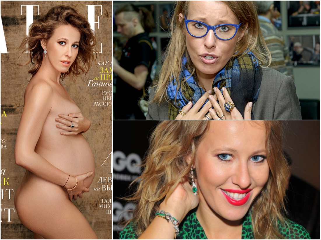 Беременная собчак для журнала
